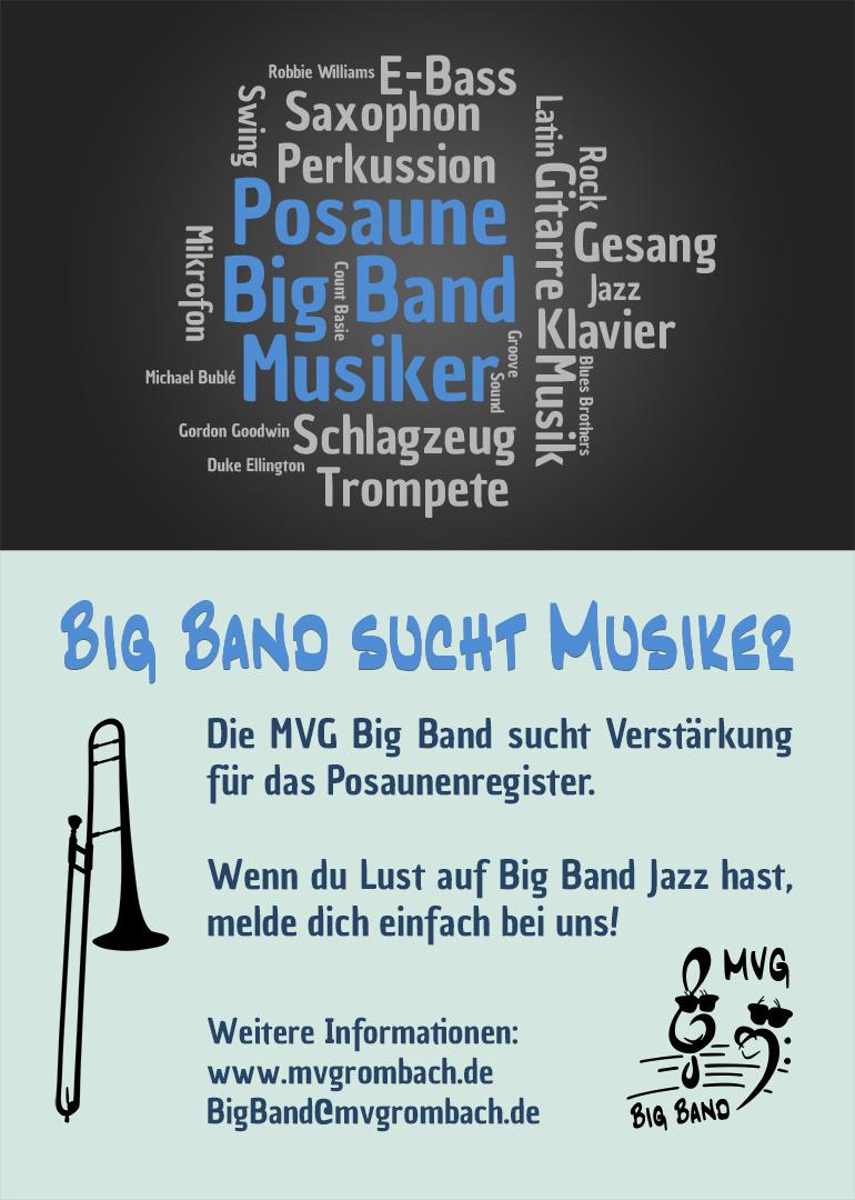 MVG Big Band sucht Verstärkung für das Posaunenregister