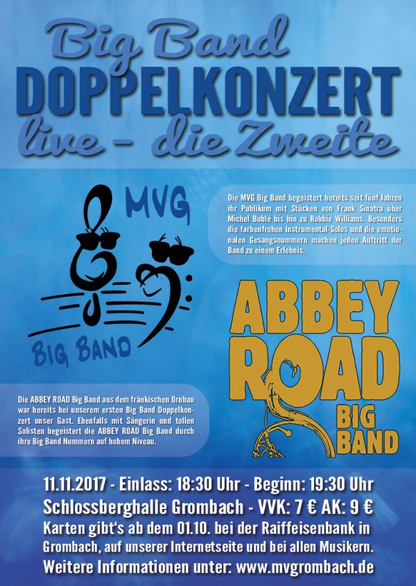 Big Band Doppelkonzert 2017