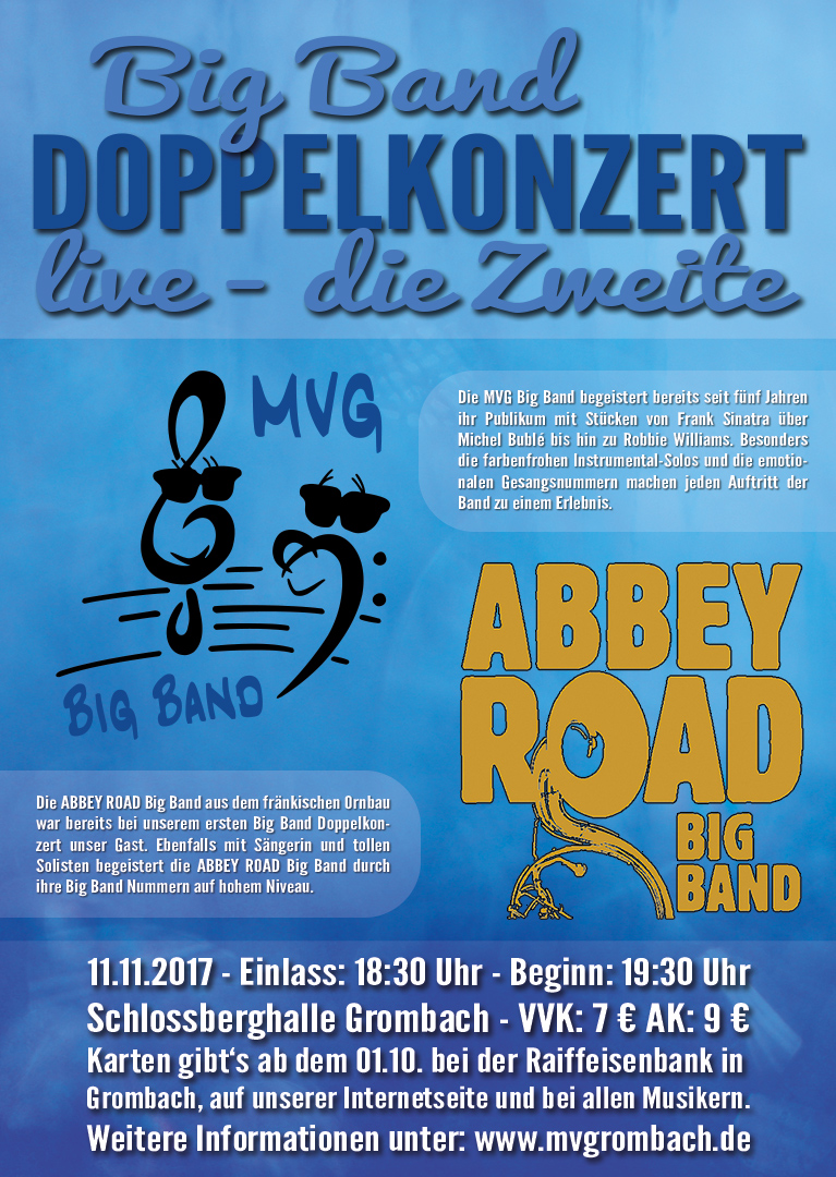 Big Band Doppelkonzert 2017